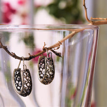 Load image into Gallery viewer, Oxidised Antique Filigree Hoop Earrings - MyDoodlesAteMe
