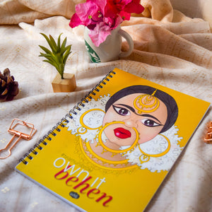 Own it Behen Wire-O Notebook (Plain, 80 Pages) - MyDoodlesAteMe
