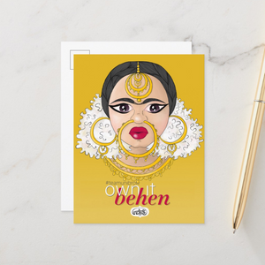 Own It Behen Postcards (Set of Two) - MyDoodlesAteMe
