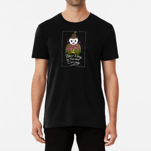 Plant Lady is the New Cat Lady Unisex Premium Cotton T-Shirt (Black) - MyDoodlesAteMe