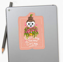 Load image into Gallery viewer, Plant Lady is the New Cat Lady Laptop Sticker - MyDoodlesAteMe