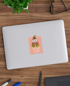 Plant Lady is the New Cat Lady Laptop Sticker - MyDoodlesAteMe