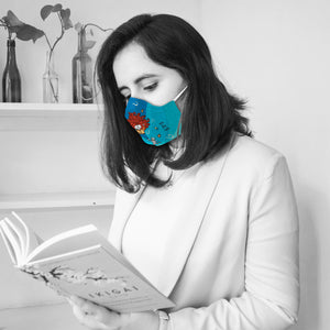 You Got This! Bookish Illustrated Premium Face Mask