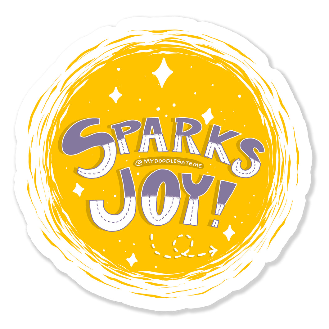 Sparks Joy Laptop Sticker - MyDoodlesAteMe