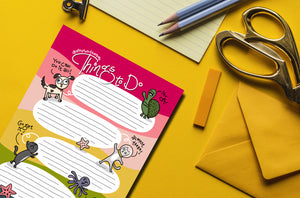 Things To Do - MyDoodlesAteMe Tear-Off Notepad for ALL your to-do lists! - MyDoodlesAteMe