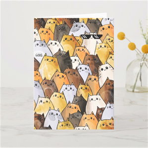 Thug Life Cool Cats Greeting Card - MyDoodlesAteMe