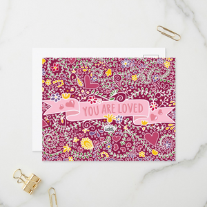 You Are Loved Postcards (Set of Two) - MyDoodlesAteMe
