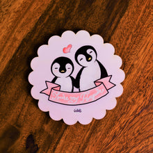 Load image into Gallery viewer, You're My Penguin Scallop Coaster - MyDoodlesAteMe