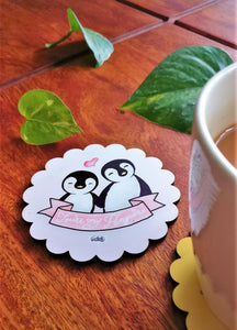 You're My Penguin Scallop Coaster - MyDoodlesAteMe