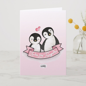 You're My Penguin Greeting Card - MyDoodlesAteMe