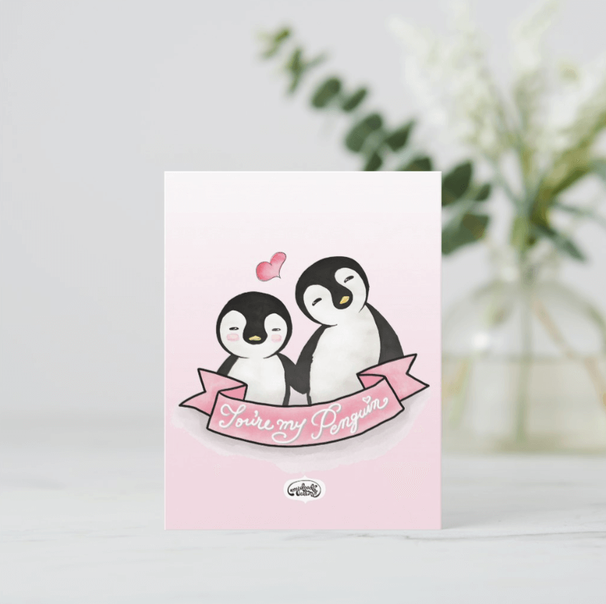 You're My Penguin Postcards (Set of Two) - MyDoodlesAteMe
