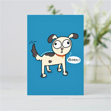 Load image into Gallery viewer, 'Bork!' Dog Lover Postcards (Set of Two - Green & Blue) - MyDoodlesAteMe