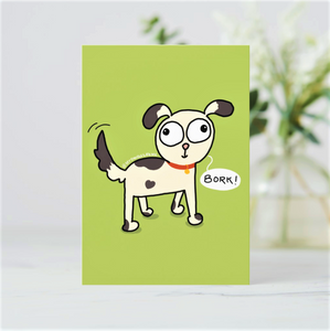 'Bork!' Dog Lover Postcards (Set of Two - Green & Blue) - MyDoodlesAteMe