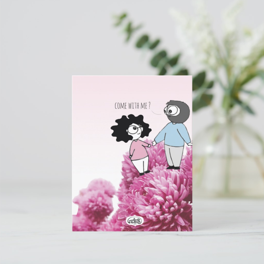 Come With Me Postcards (Set of Two) - MyDoodlesAteMe