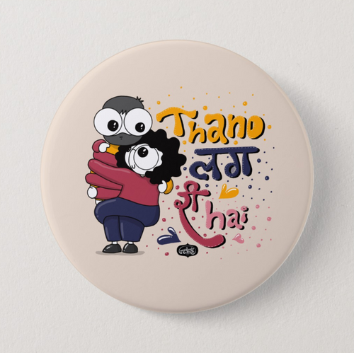 Thand Lag Ri Hai Pin Badge (+ Fridge Magnet) - MyDoodlesAteMe