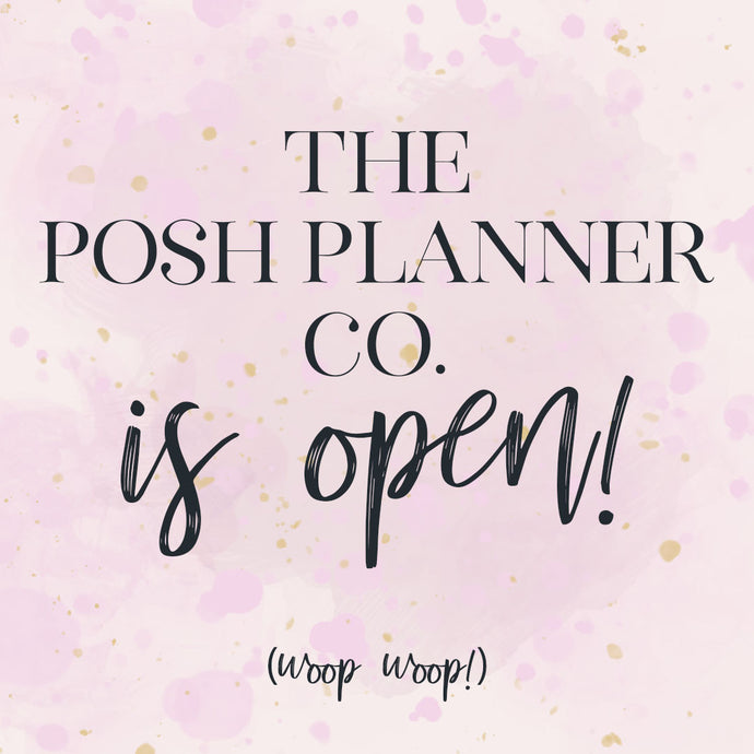 Welcome to The Posh Planner Co!