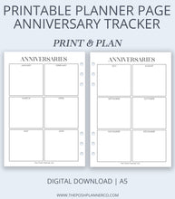 Load image into Gallery viewer, printable anniversary planner