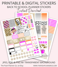 Load image into Gallery viewer, Printable Planner Stickers - Fall Back to School Stickers