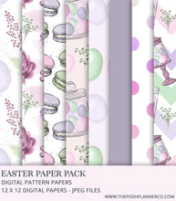 Load image into Gallery viewer, Digital Paper Pack - Easter Elegance - Printable Digital Papers
