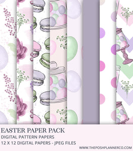 Digital Paper Pack - Easter Elegance - Printable Digital Papers
