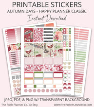 Load image into Gallery viewer, Printable Planner Stickers - Autumn Days Planner Happy Planner Stickers