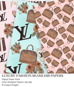luxury handbags scrapbook paper