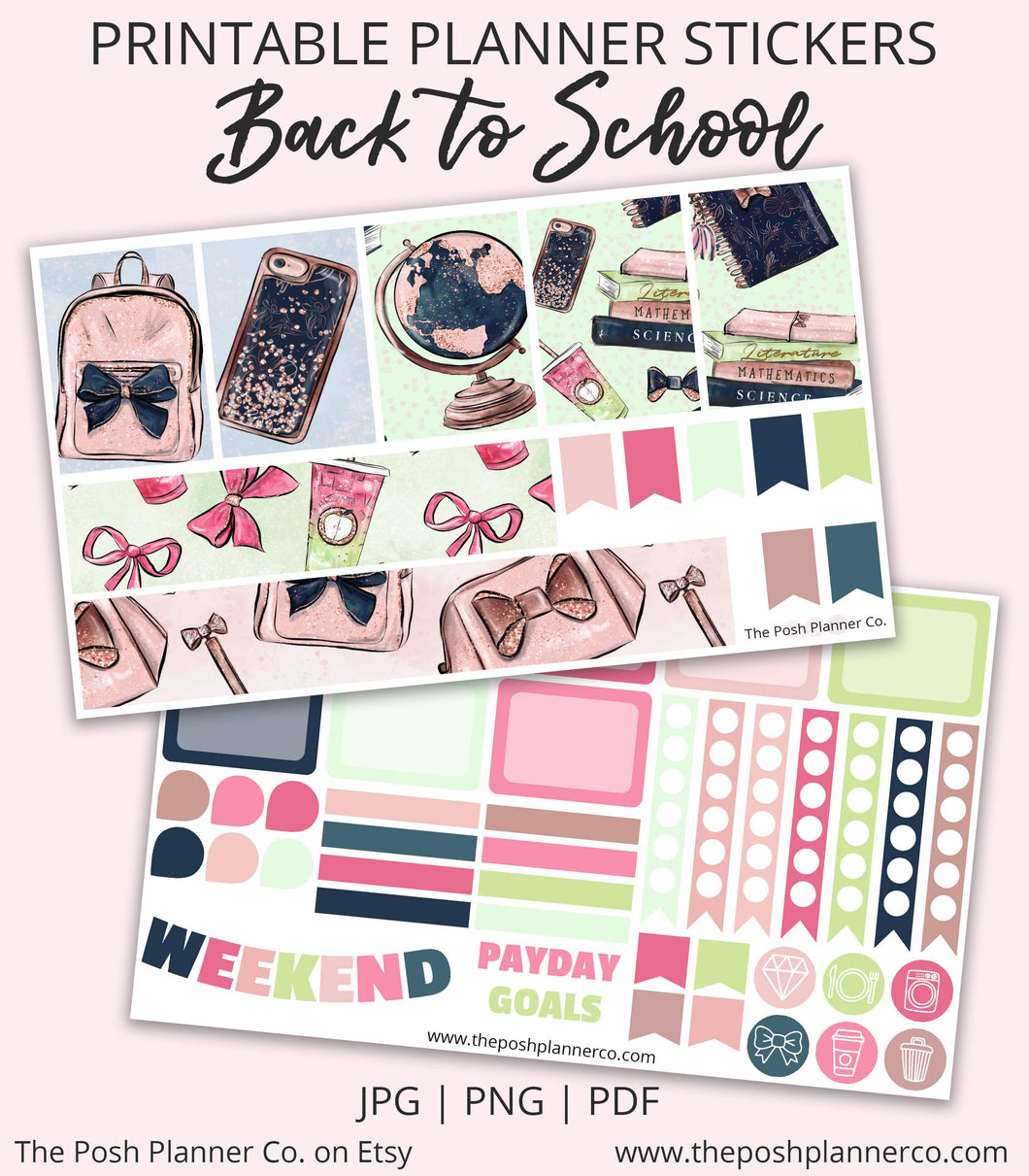 happy planner printable stickers