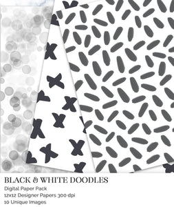 instant download scrapbook papers