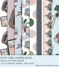Load image into Gallery viewer, Digital Paper Pack - City Girl - Seamless Fashion Papers