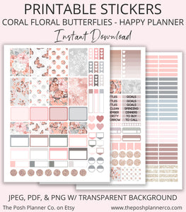 photo relating to Happy Planner Stickers Printable named Printable Pleased Planner Stickers - Spring Summer time Planner