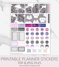 Load image into Gallery viewer, printable planner stickers floral
