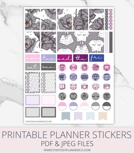 printable planner stickers floral