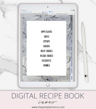Load image into Gallery viewer, goodnotes recipe book