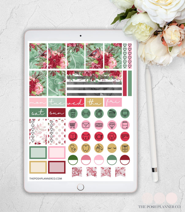 Digital Planner Stickers - Christmas Planner Stickers - GoodNotes Notability