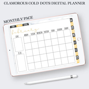 monthly planner page