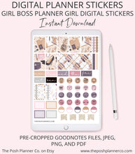 Load image into Gallery viewer, girl boss planner stickers