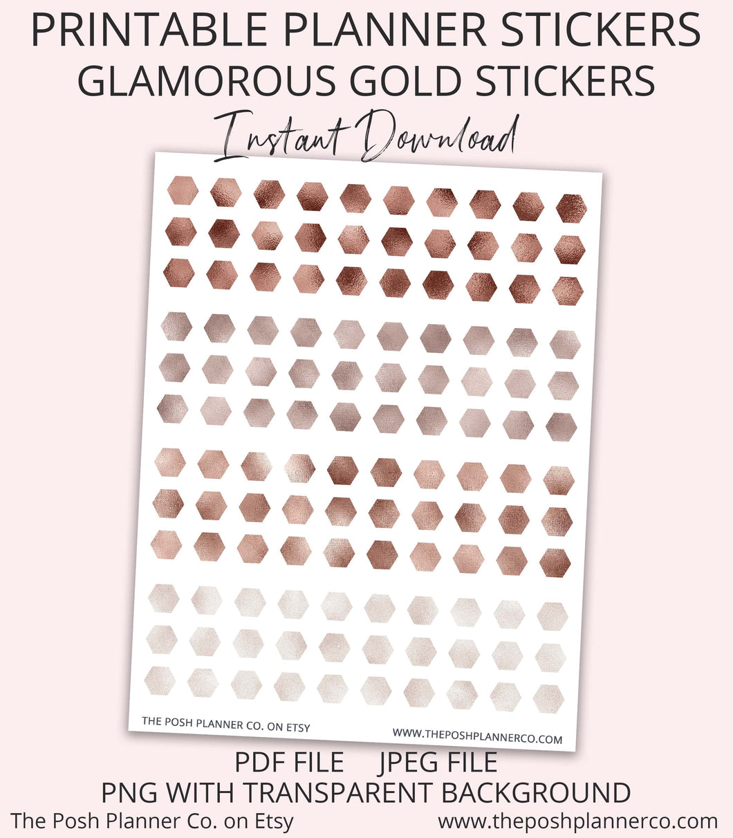 gold planner stickers