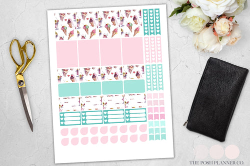 printable planner stickers ice cream