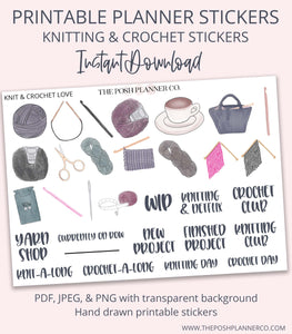 knitting and crochet stickers