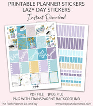 Load image into Gallery viewer, lazy day sunday planner stickers