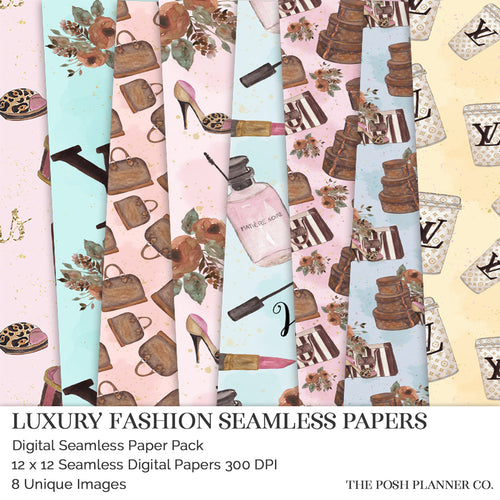 digital papers fashion