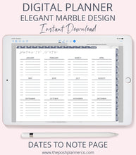 Load image into Gallery viewer, Digital Planner - Marble Minimalist Digital Planner