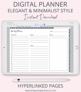2019 Digital Planner - Elegant Minimalist Design - For Goodnotes