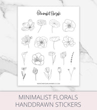 Load image into Gallery viewer, printble planner stickers flowers