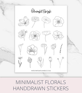 printble planner stickers flowers