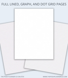 Printable Student Planner - Note Taking Planner Pages - Digital Planner