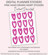 Load image into Gallery viewer, printable planner stickers valentines day