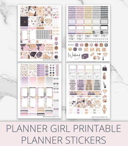 weekly planner sticker kit