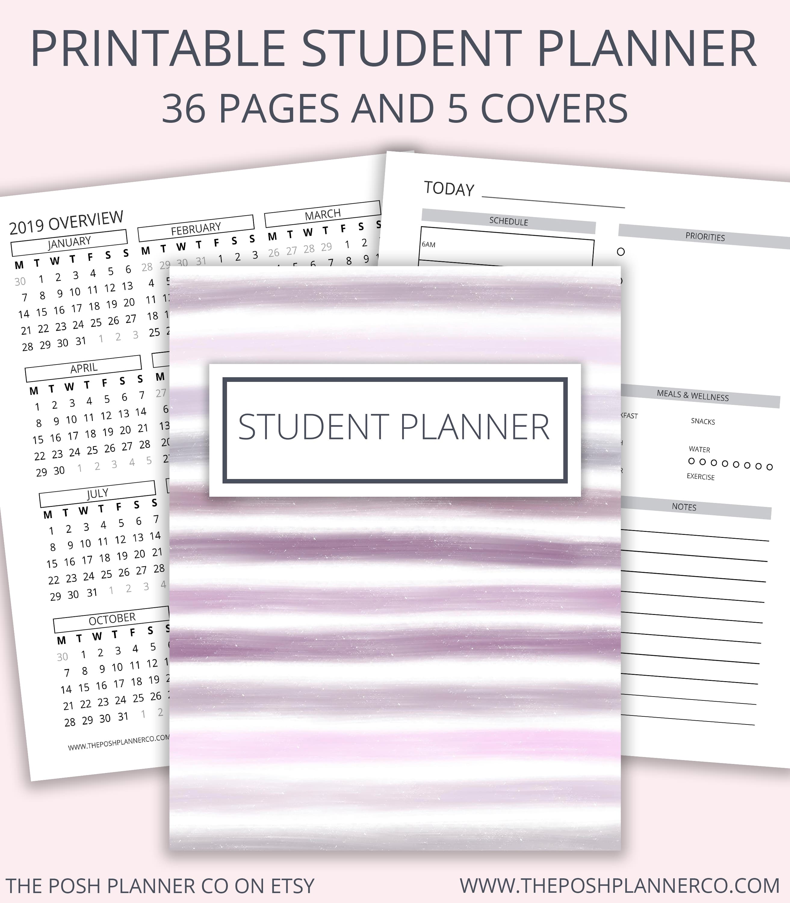 picture about Student Planner Printable referred to as Printable Scholar Planner - Printable Planner Internet pages