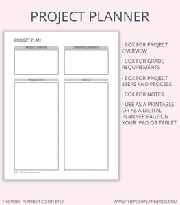 Printable Student Planner - Student Printable Organizer